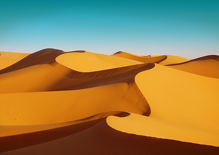 Desert tour to the Gold dunes Erg Lihoudi / 2 days / 1 night