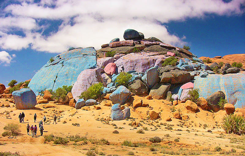 Tour from Agadir to Marrakech via Blue Rocks  4 days / 3 nights